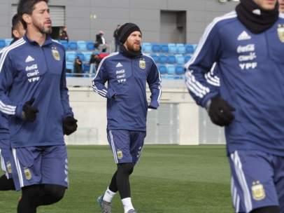 Messi, entrenamiento Argentina