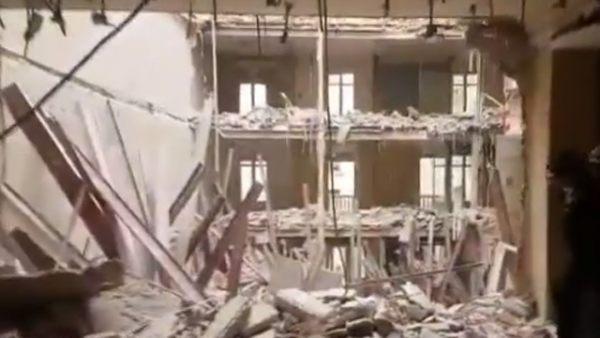 Sigue la búsqueda de dos obreros tras un derrumbe en Madrid
