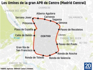 Mapa de la APR central
