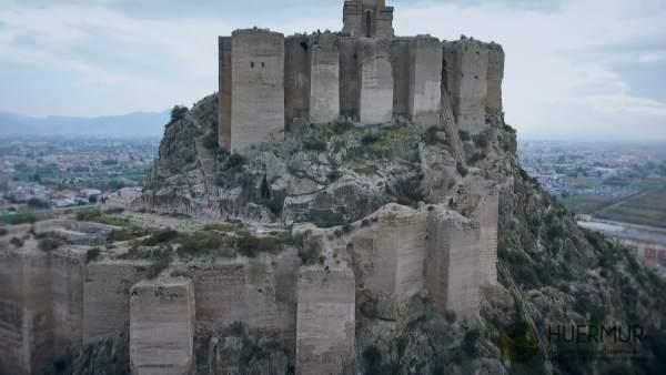 Imagen aérea del Castillo de Monteagudo