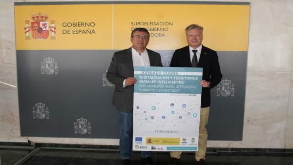 Primo Jurado (dcha.) y Madrid, durante el encuentro mantenido