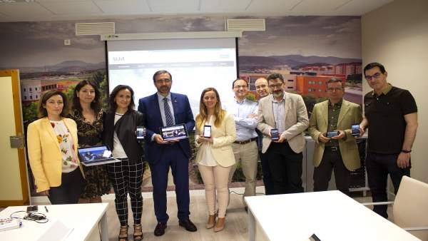 Presentación de la nueva web de la Universidad de Jaén.