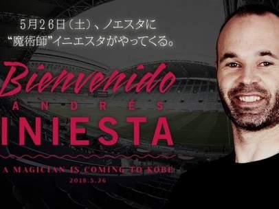 INiesta, nuevo jugador del Vissel Kobe