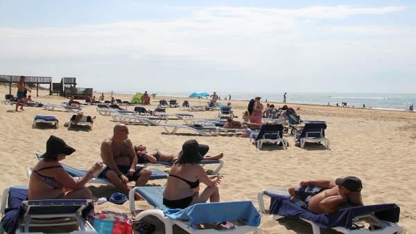 Vista general de la playa de Islantilla.