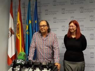 MARIO SUAREZ Y ESTEFANÍA PUENTE, PORTAVOZ Y CONCEJALA DE XSP