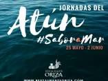Cartel de las jornadas del atún rojo salvaje en el Restaurante Oriza