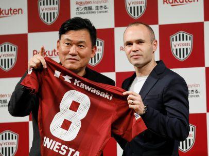Iniesta, presentado por el Vissel Kobe