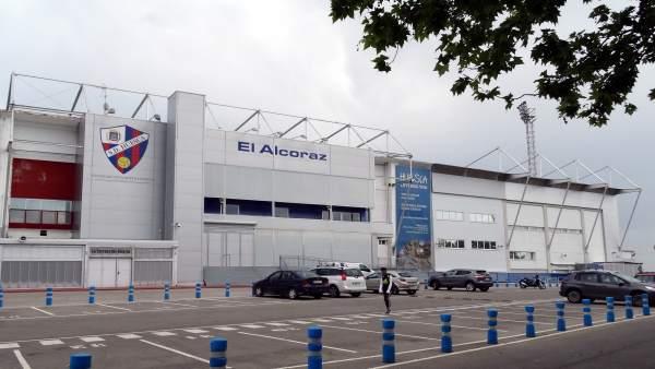 Campo de fútbol del Alcoraz, en Huesca