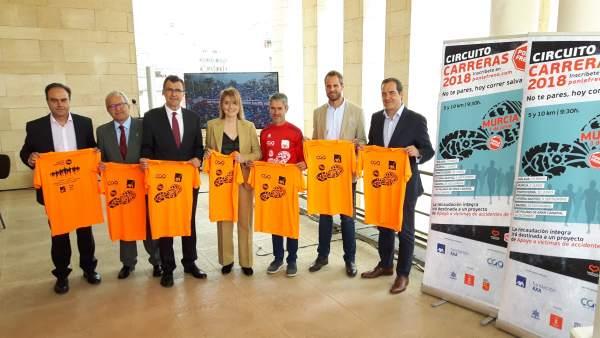 Imagen de la presentación de la carrera 'Ponle Freno' en Murcia
