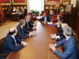 Reunión en el Ayuntamiento de Valladolid con miembros de la Atuc. 24-5-2018