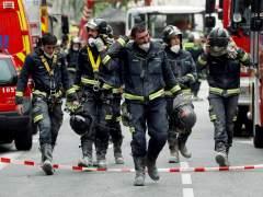 Las intensas lluvias complican las labores de búsqueda del desaparecido en el edificio derrumbado en Madrid