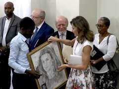La reina Letizia en Haití