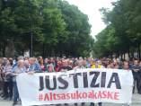 Concentración para pedir 'justicia' por los encausados de Alsasua
