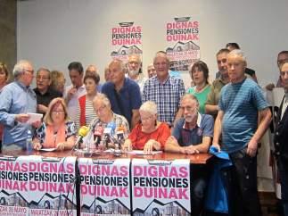 Representantes del Movimiento de Pensionistas en Bilbao
