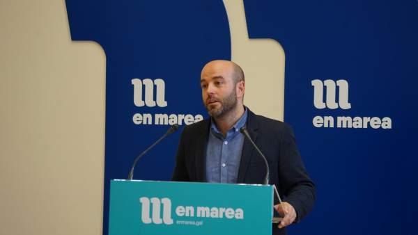 Luís Villares en rueda de prensa