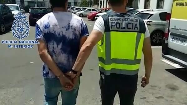 El joven detenido por la polícía