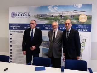 Rueda de prensa sobre el campus de Loyola Andalucía en Dos Hermanas