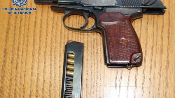 Arma sustraida por la Policía