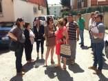 Igual y Ruiz con vecinos del barrio de San Pancracio