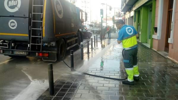 Trabajos en una de las calles afectadas