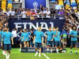 El Real Madrid se entrena antes de la final