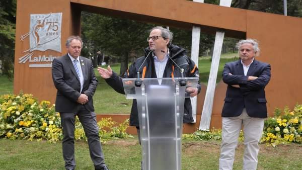 El presidente Quim Torra en un acto en La Molina