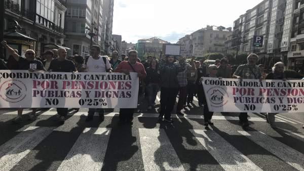 Manifestación convocada por la Coordinadora de Pensiones
