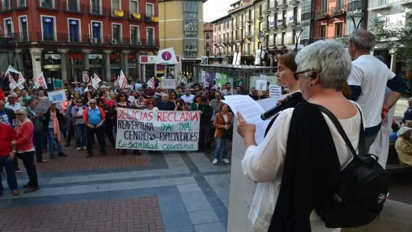 Valladolid (26-05-2018).- Concentración Sanidad
