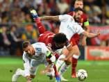 El momento de la lesión de Salah