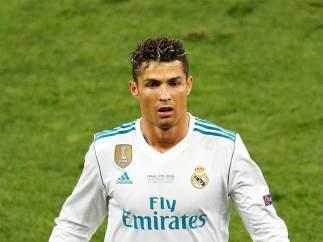 Cristiano Ronaldo, en la final de la Champions contra el Liverpool.