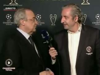 Florentino Pérez y Josep Pedrerol