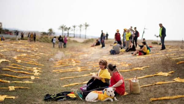 Plantada de cruces amarillas