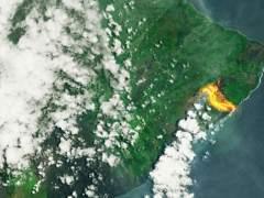 La espectacular imagen del volcán Kilauea desde el espacio