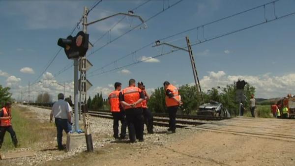 Tres muertos al ser arrollados por un tren