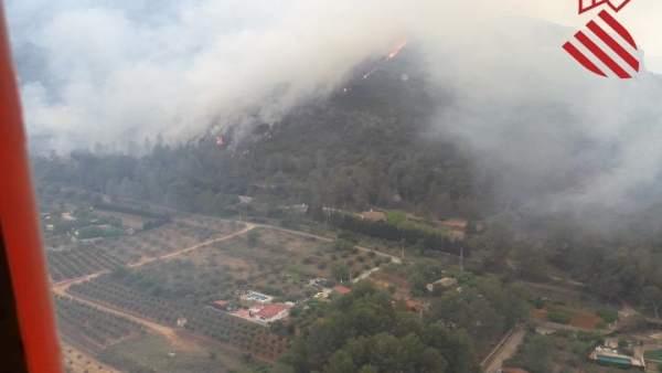 Incendio en El Genovés (Valencia)