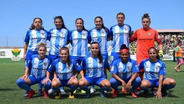 Alineación málaga club de fútbol femenino sube a Primera División Iberdrola