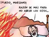 La prudencia de Rajoy. Viñeta de Superantipático