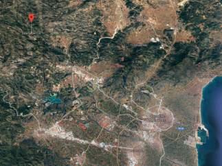 Localització de Llucena/Llucena a Castelló