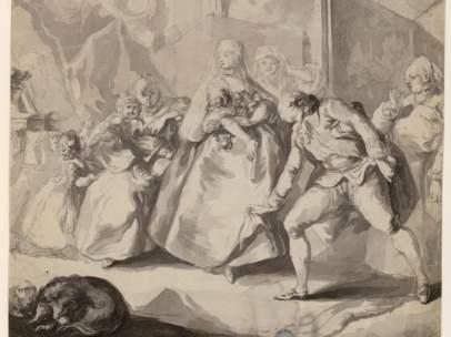 Escena de tocador, Luis Paret y Alcázar, 1770-1775