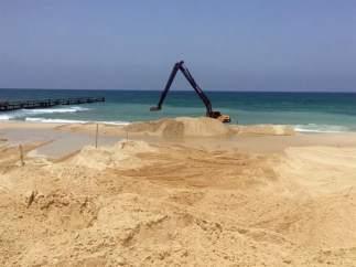 Barrera submarina en Gaza