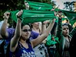 Manifestación pro aborto legal en Argentina
