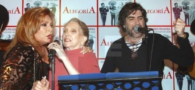 María Dolores Pradera, con Rocío Jurado y Joaquín Sabina