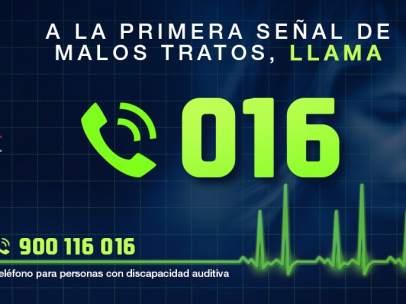 Teléfono 016 contra la violencia de género