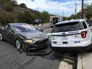 Accidente de un vehículo Tesla