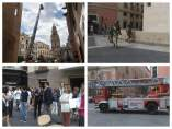 Imágenes de la intervención de los Bomberos en el Ayuntamiento de Murcia
