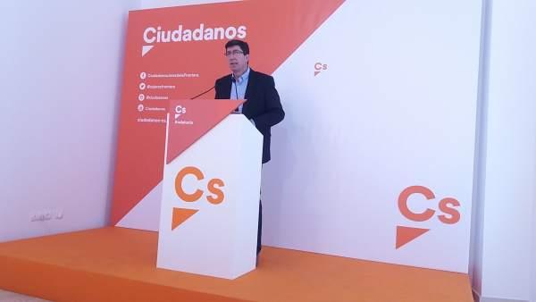 Juan Marín en rueda de prensa en Jerez