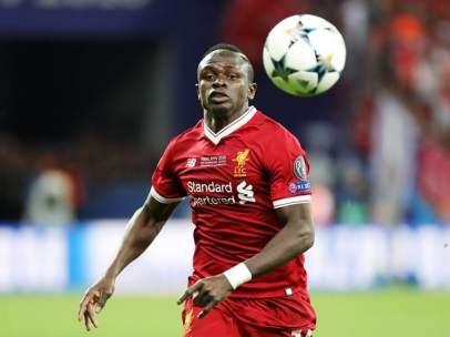 Sadio Mané, con la camiseta del Liverpool.