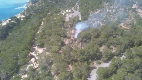 Incendio forestal ibiza
