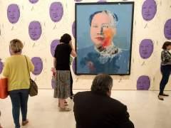 Exposición 'Warhol. El arte mecánico' en el Museo Picasso de Málaga.