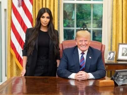 Donald Trump y Kim Kardashian